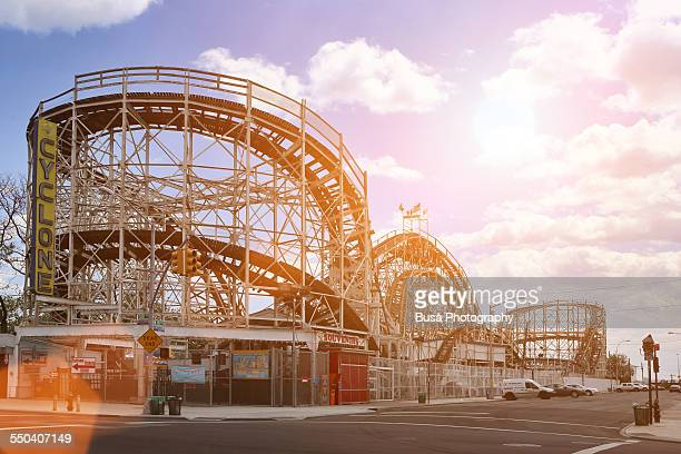 The Cyclone Roller Coaster in Coney Island, NYC
