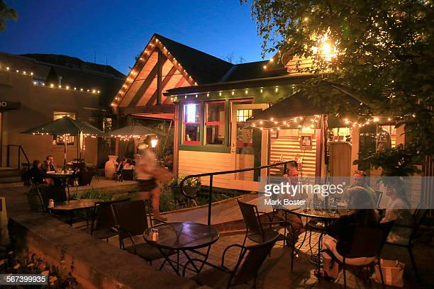 The Cyprus Cafe glows in the evening light in Durango Colorado June 4 2014