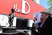 The D Las Vegas coowners Greg Stevens Derek Stevens and former Las Vegas Mayor/Chairman of the Las Vegas Host Committee Oscar Goodman attend the...