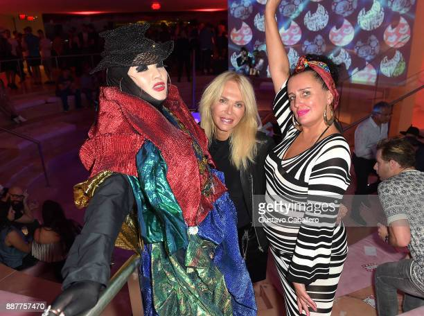 The Daily Front Row and Tinder After Dark celebrate at Faena Forum with Daniel Lismore Lauren Foster and guest on December 6 2017 in Miami Beach...