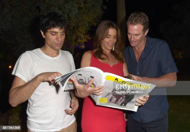 The Daily Front Row celebrates the Launch of Act1 with Sebastian Faena Cindy Crawford and Rande Gerber presented by LIFEWTR at Faena Hotel on...