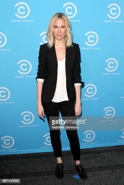 The Daily Show correspondent Desi Lydic attends Comedy Central's LA Press Day at Viacom Building on May 23 2017 in Los Angeles California