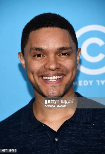 The Daily Show with Trevor Noah host Trevor Noah attends Comedy Central's LA Press Day at the Viacom Building on May 23 2017 in Los Angeles California
