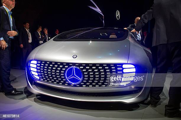 The Daimler AG MercedesBenz F015 concept vehicle is presented at a news conference during the 2015 Consumer Electronics Show in Las Vegas Nevada US...