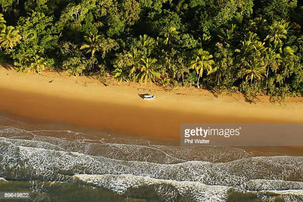 The Daintree Rainforest meets the sea where scientists from James Cook University study the effects of climate change on the Daintree Rainforest at...