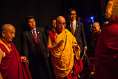 The Dalai Lama speaks to an audience at the Beacon Theater October 18 2013 in New York City The Dalai Lama is in New York for three days of his...