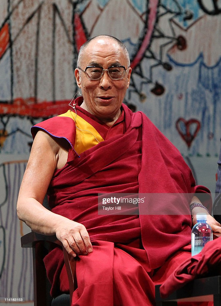 The Dalai Lama Tenzin Gyatso attends the Newark Peace Education Summit at New Jersey Performing Arts Center on May 14, 2011 in Newark, New Jersey.
