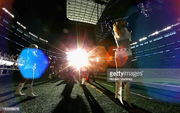 The Dallas Cowboys Cheerleaders at ATT Stadium on October 6 2013 in Arlington Texas