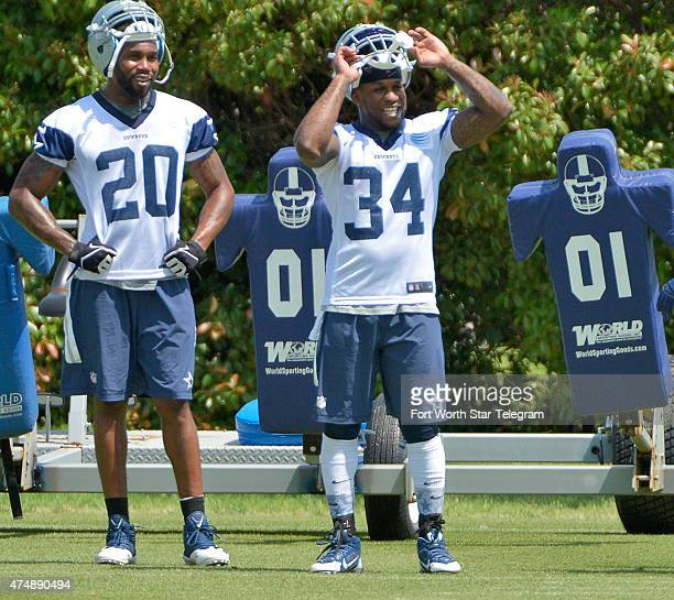 The Dallas Cowboys' Darren McFadden and Ryan Williams during an OTA practice at Valley Ranch in Irving Texas on Wednesday May 27 2015