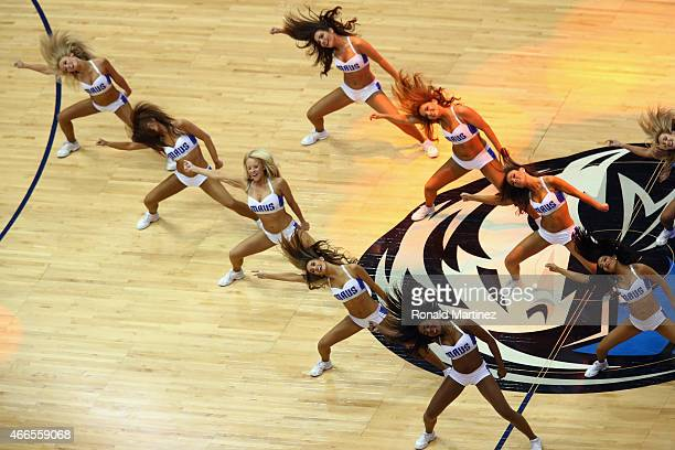 The Dallas Mavericks cheerleaders perform at American Airlines Center on March 16 2015 in Dallas Texas NOTE TO USER User expressly acknowledges and...