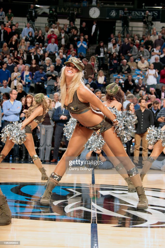 The Dallas Mavericks dance team entertains the crowd during the game against the Minnesota Timberwolves on November 12, 2012 at the American Airlines Center in Dallas, Texas.