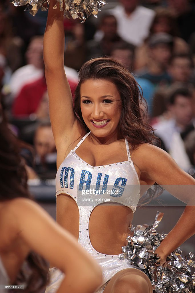 The Dallas Mavericks dance team performs during halftime of the game against the Washington Wizards on November 14, 2012 at the American Airlines Center in Dallas, Texas.
