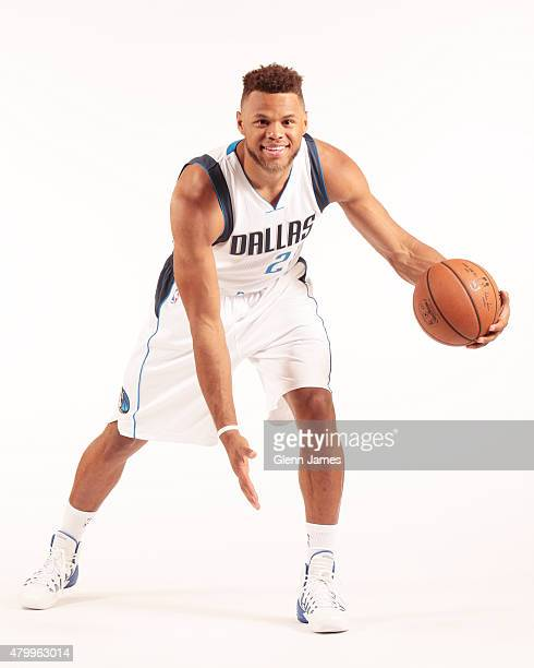 The Dallas Mavericks draft pick Justin Anderson poses for a portrait on July 8 2015 at American Airlines Center in Dallas TX NOTE TO USER User...