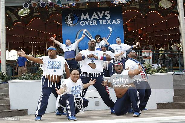 The Dallas Mavericks host season ticket holders at a fan appreciation event on April 6 2015 at Six Flags Over Texas in Arlington Texas NOTE TO USER...