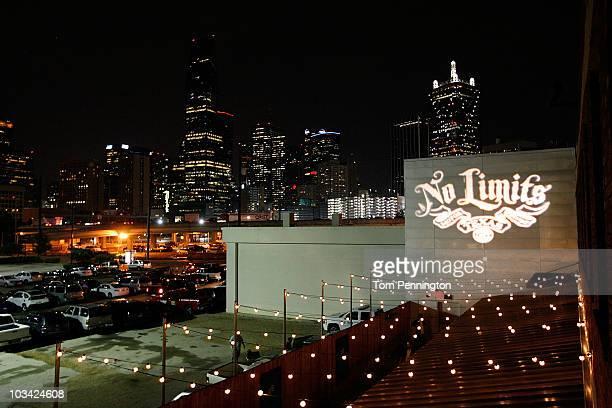 The Dallas skyline during the 2011 Schedule Announcement Party for the Texas Motor Speedway at House of Blues on August 17 2010 in Dallas Texas