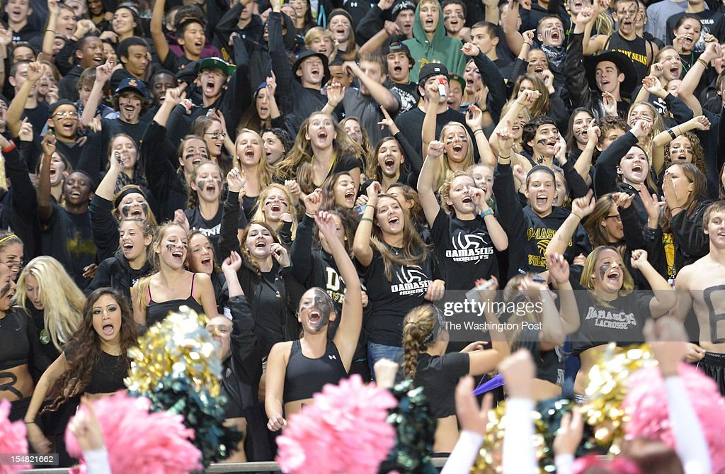 The Damascus student section was fired up for their upset victory over rival Seneca Valley on Oct. 25, 2012 in Damascus, MD