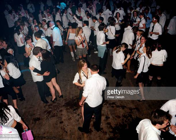 The dance floor at schooldiscocom a school discothemed adult night in north London April 2007
