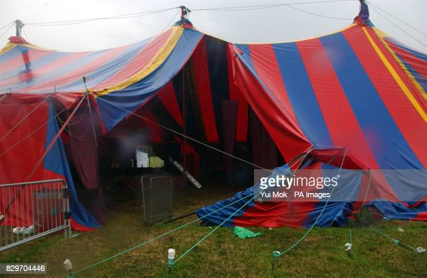 The Dance Lounge bar in the Dance Fields that was struck by lightning during the bad weather