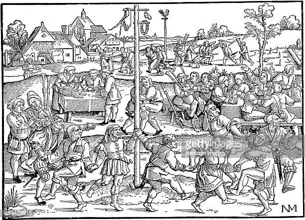 The Dance of the Noses at Gimpelsbrunn 1534 Beham Hans Sebald Private Collection