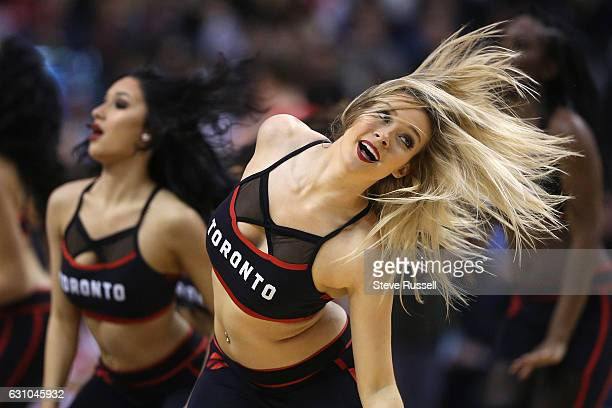 TORONTO ON JANUARY 5 The Dance Pak hair flips as the Toronto Raptors beat the Utah Jazz 10193 at Air Canada Centre in Toronto January 5 2017