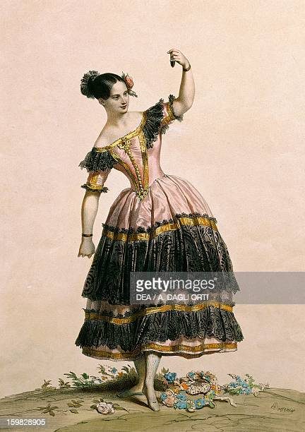 The dancer Fanny Elssler in the role of Florinda in the third act of the ballet The Lame Devil Print 19th century Vienna Historisches Museum Der...