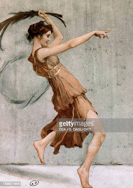 The dancer Isadora Duncan in stage costume drawing by August Gorguett Francois Paris Bibliothèque Des Arts Decoratifs
