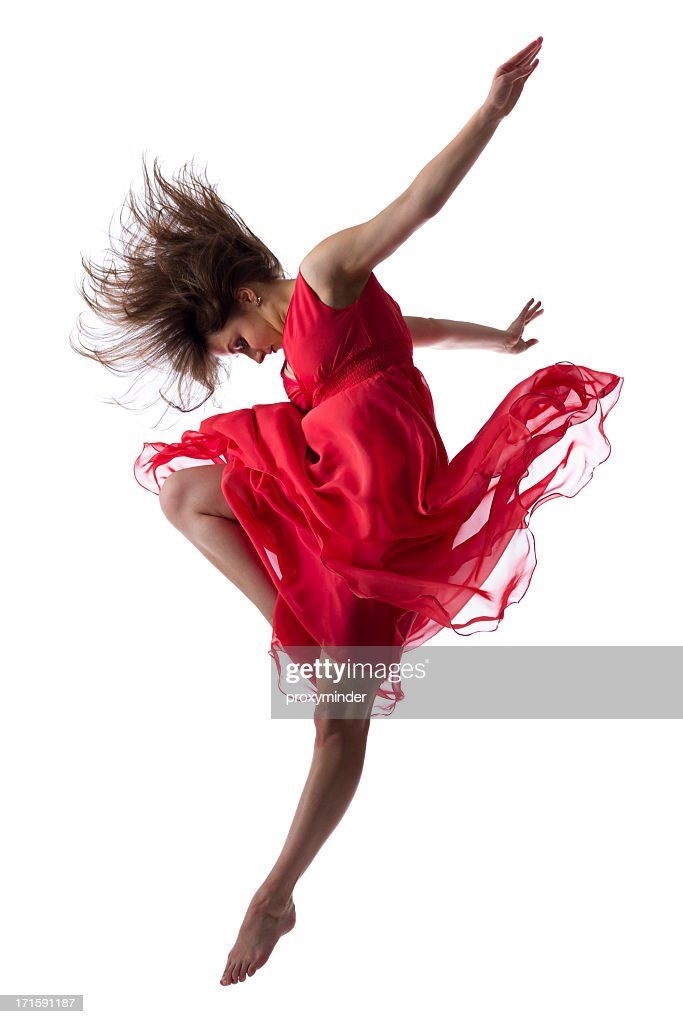 The dancer isolated on white