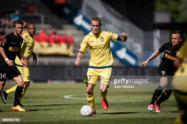 Thomas Kahlenberg of Brondby IFBRONDBY DENMARK MAY 28 the Danish Alka Superliga match between Brondby IF and FC Nordsjalland at Brondby Stadion on...