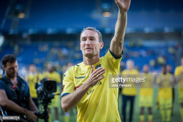 Thomas Kahlenberg of Brondby IF at the end of the match BRONDBY DENMARK MAY 28 the Danish Alka Superliga match between Brondby IF and FC Nordsjalland...