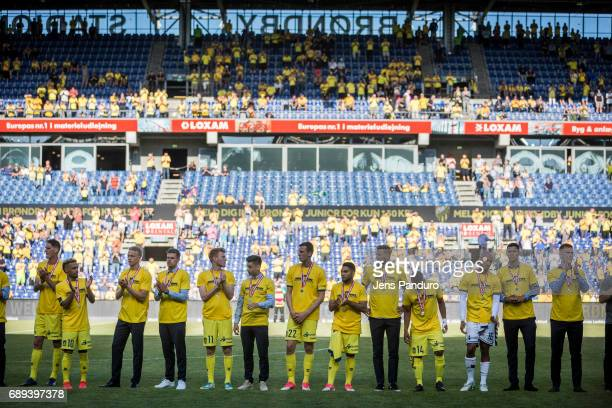 the Danish Alka Superliga match between Brondby IF and FC Nordsjalland at Brondby Stadion on May 28 2017 in Brondby Denmark