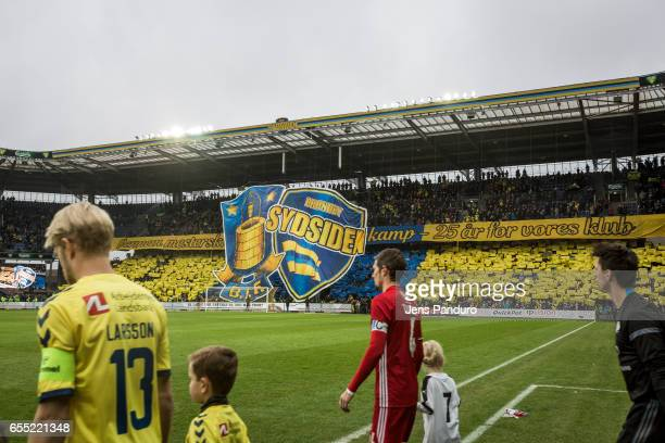 the Danish Alka Superliga match between Brondby IF and Lyngby BK at Brondby Stadion on March 19 2017 in Brondby Denmark
