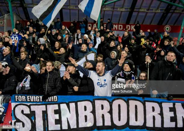 the Danish Alka Superliga match between Silkeborg IF and FC Copenhagen at Mascot Park on March 19 2017 in Silkeborg Denmark