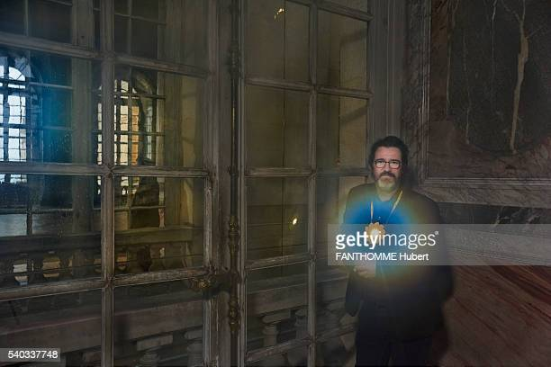 the danish artist Olafur Eliasson with his work Little Sun are photographed for Paris Match on may 31 2016 in Versailles France