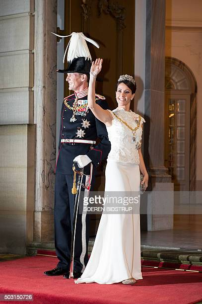 The Danish Prince Joachim and Princess Marie arrive to the New Year's reception at the royal palace Amalienborg in Copenhagen January 1 2016 / AFP /...