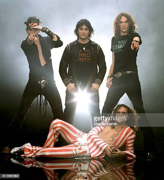 The Darkness are photographed on May 23 2012 in the French Quarter in New Orleans Louisiana