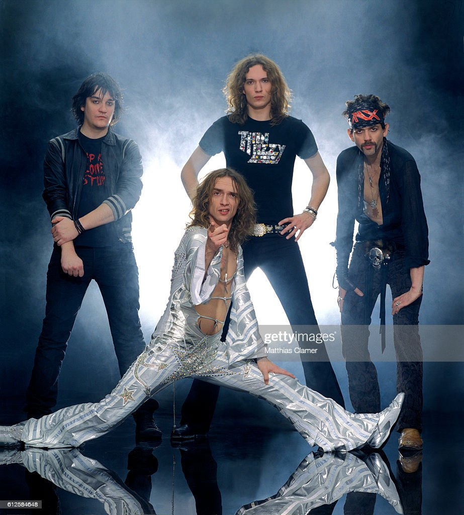 The Darkness are photographed on May 23, 2012 in the French Quarter in New Orleans, Louisiana.