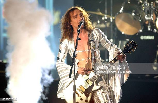 The Darkness performing during the MTV Europe Music Awards 2003 at Western Harbour in Leith Edinburgh 07/12/03 A resurgence in rock has had a spinoff...
