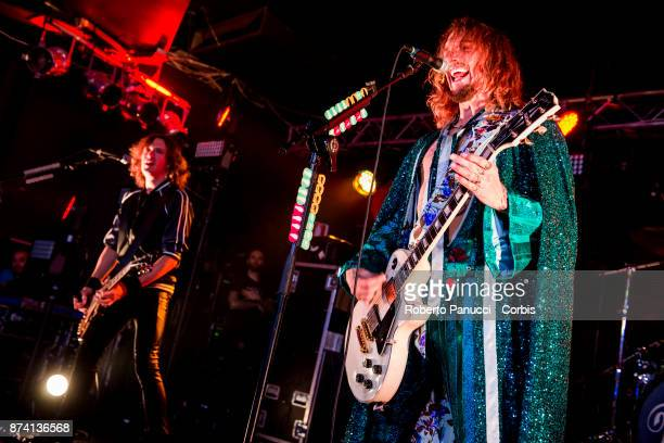 The Darkness performs on stage on November 9 2017 in Rome Italy
