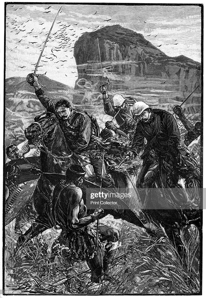 The dash with the colours Battle of Isandlwana AngloZulu War South Africa 22 January 1879 Illustration from The Life and Times of Queen Victoria by...