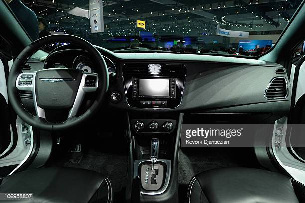 The dashboard of 2011 Chrysler 200 is seen at the twoday media preview event for the 2010 Los Angeles Auto Show on November 18 2010 in Los Angeles...