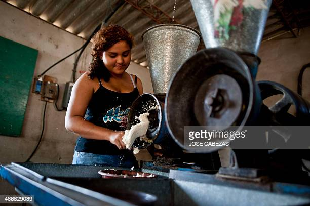 The daughter of Salvadorean castaway Jose Salvador Alvarenga Fatima Mabea Alvarenga works in a family mill in Garita Palmera 102 km west of San...