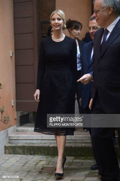 The daughter of US President Donald Trump Ivanka Trump visits the Vaticanaffiliated NGO the Community of Sant'Egidio where she met victims of human...