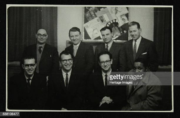 The Dave Brubeck Quartet Bristol 1958 Seated are Joe Morello Dave Brubeck Paul Desmond and Eugene Wright Standing behind the band members are Mr...
