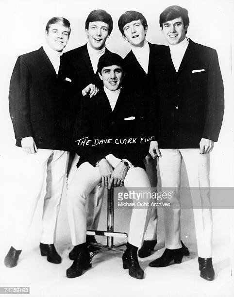 The Dave Clark Five pose for a portrait in circa 1963 Lenny Davidson Mike Smith Rick Huxley Denis 'Denny' Payton Dave Clark