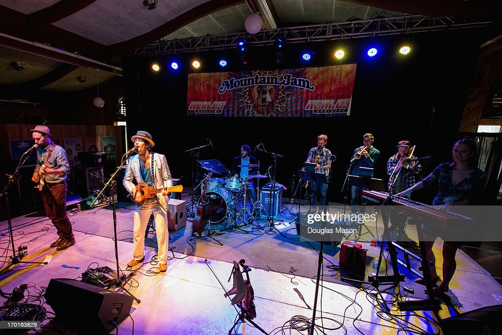 The David Wax Museum performs during the 9th Annual Mountain Jam at Hunter Mountain on June 7, 2013 in Hunter, New York.