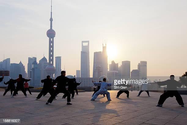 The dawn of the Bund in Shanghai