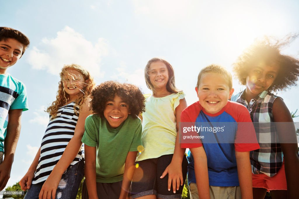 The days are just better when we're all together : Stock Photo