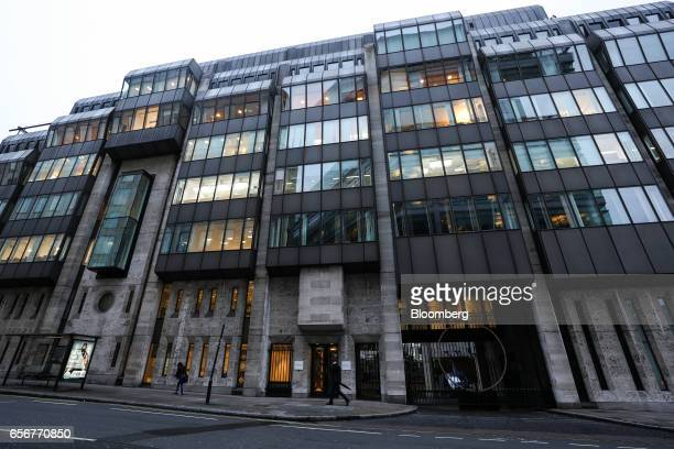 The De Beers SA headquarters stand on Charterhouse Street in London UK on Wednesday Feb 1 2017 Number 17 Charterhouse Street a fortress in the heart...