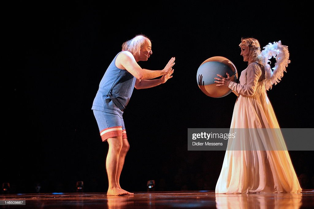 The Dead Clown performs an ball act during the Belgian premiere of the Cirque du Soleil show Corteo on June 13, 2012 in Antwerpen, Belgium.