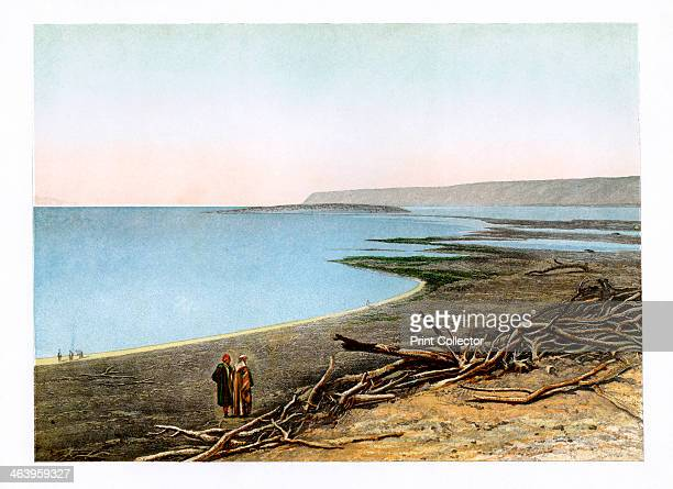 The Dead Sea c1870 Illustration from Sinai and Jerusalem or Scenes from the Bible Lands by the Rev FW Holland